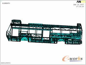 M征文之20 客车车身骨架的有限元分析高清图片