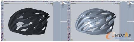 基于Evolve多边形建模方式构建模型,左为转化前,右为转化后
