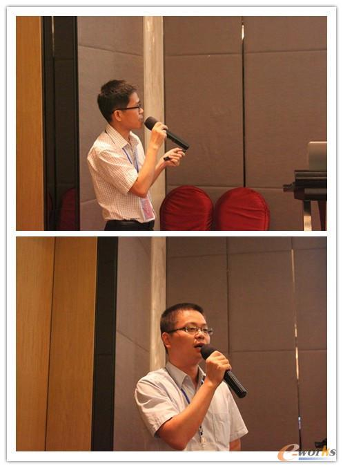 上:真维斯钟文韬;下:华阳通用电子刘林奇