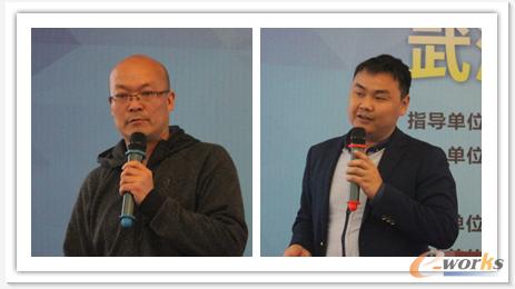 光迅科技信息管理部总经理景嘉祥、右:凡谷电子信息中心副总周金桥