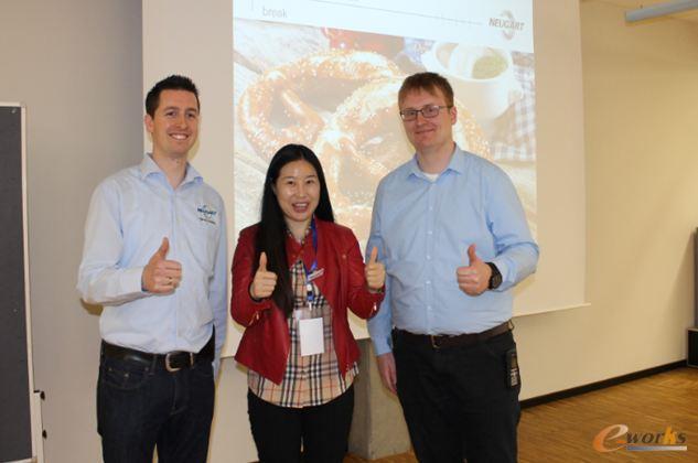 考察团成员与Neugart IT负责人、ERP项目经理合影