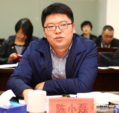 陈小磊介绍两化融合工作上的典型做法和经验