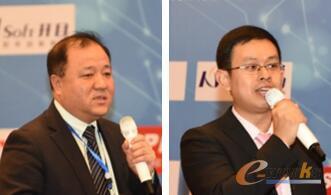 图5 从左至右:EPLAN技术经理张福辉    武汉开目信息技术股份有限公司高级咨询顾问夏青