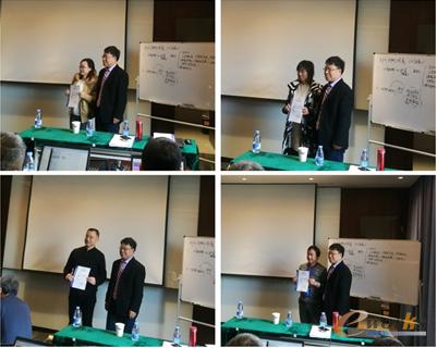 胥总向学员代表颁发结业证书