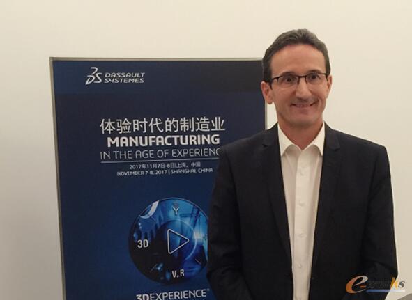 达索系统制造与供应链高级副总裁Philippe Charlès