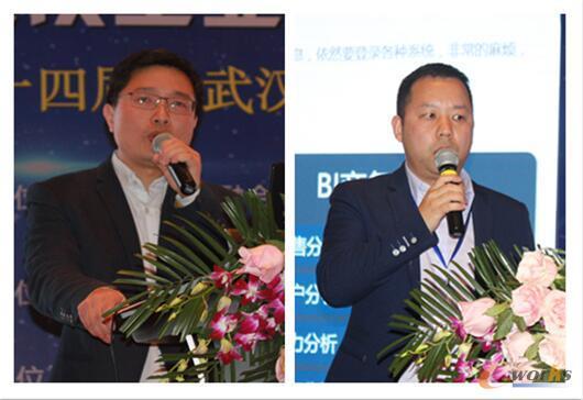 左:良品铺子李二强、右:丝宝集团刘勇