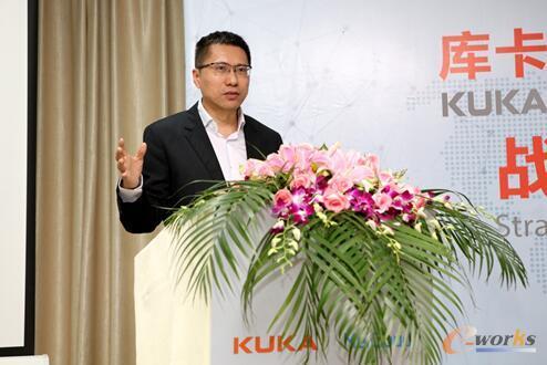 美的集团董事副总裁兼库卡集团监事会主席顾炎民致辞