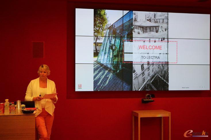 力克国际先进技术中心总监Amanda Prudhon女士迎接考察团的到来