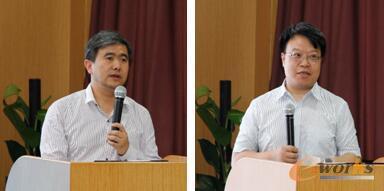 图3 e-works CEO黄培博士(左)  e-works总经理胥军博士(右)
