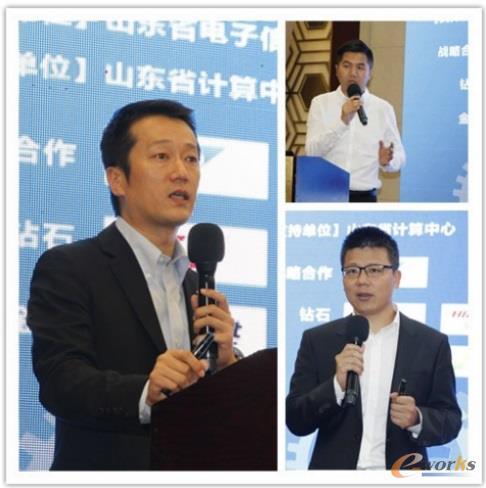 SAP资深解决方案顾问张勇、SAP 产品经理朱俊杰 、SAP业务拓展总监单卫民