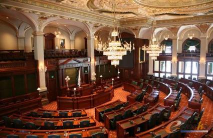 空荡荡的伊利诺斯州众议院
