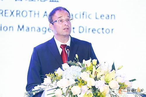 博世力士乐亚太区精益生产管理总监 Lngo Claussen先生在开业仪式上发表讲话