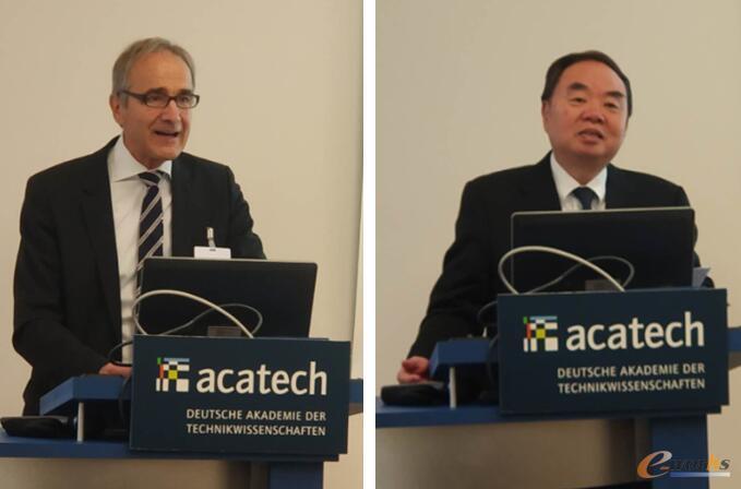 德国工程院Karl-Heinz Stribich院长和中国工程院周济院士致辞