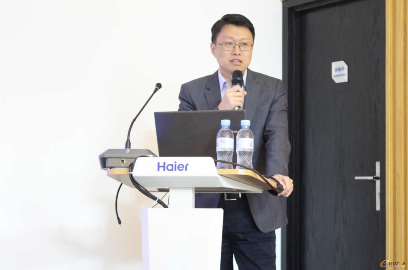 海尔家电产业集团智能制造总经理、海尔工业智能研究院执行院长张维杰