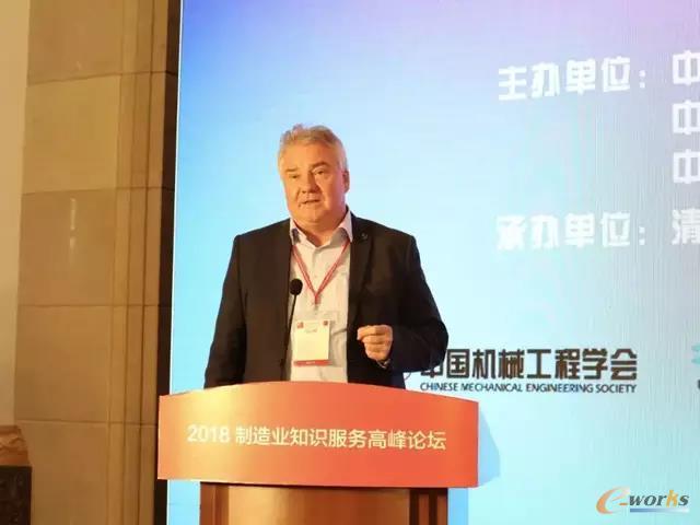 德国威步信息系统有限公司创始人兼执行总裁Oliver Winzenried做报告