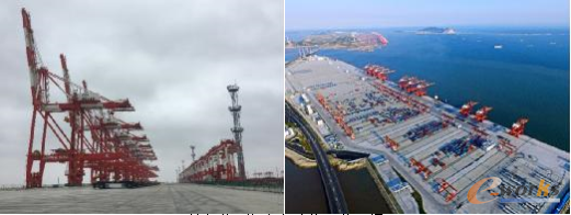 洋山港四期全自动化码头现场