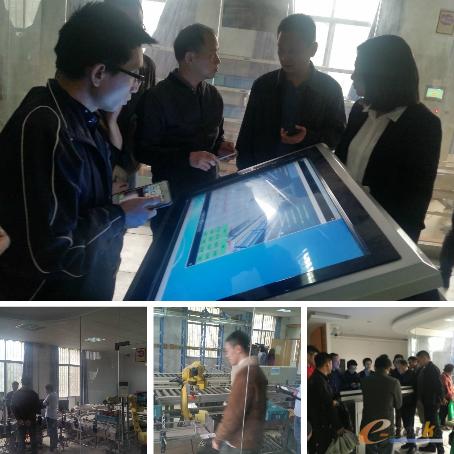 学员们参观华中科技大学物联网研究中心