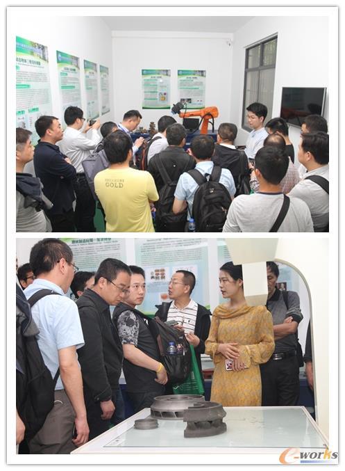 图8 参观华中科技大学3D 打印中心