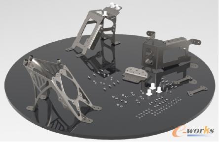 采用增材制造技术进行一体化设计的尾架将零部件数量从30个减少到1个