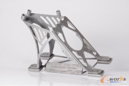 轻量化和高质量:使用EOS Aluminium AlSi10Mg实现垂直尾翼支架的一体化设计