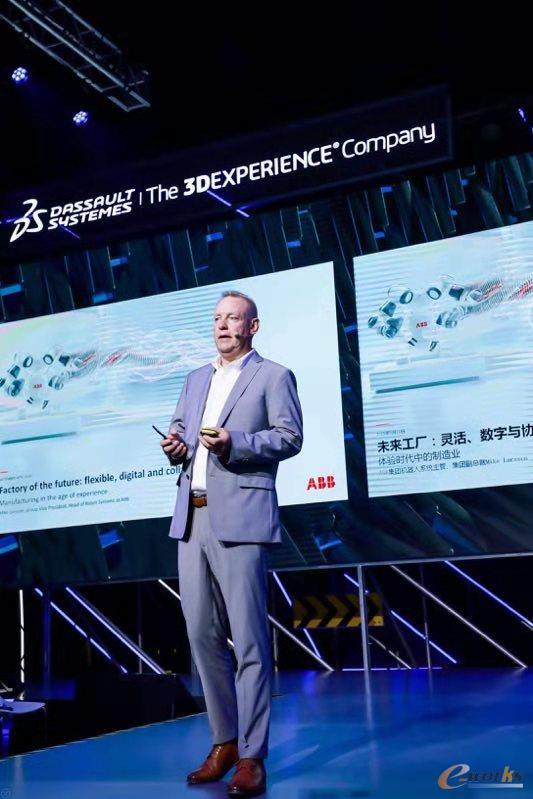 ABB集团副总裁兼机器人系统全球主管Michael Larsson