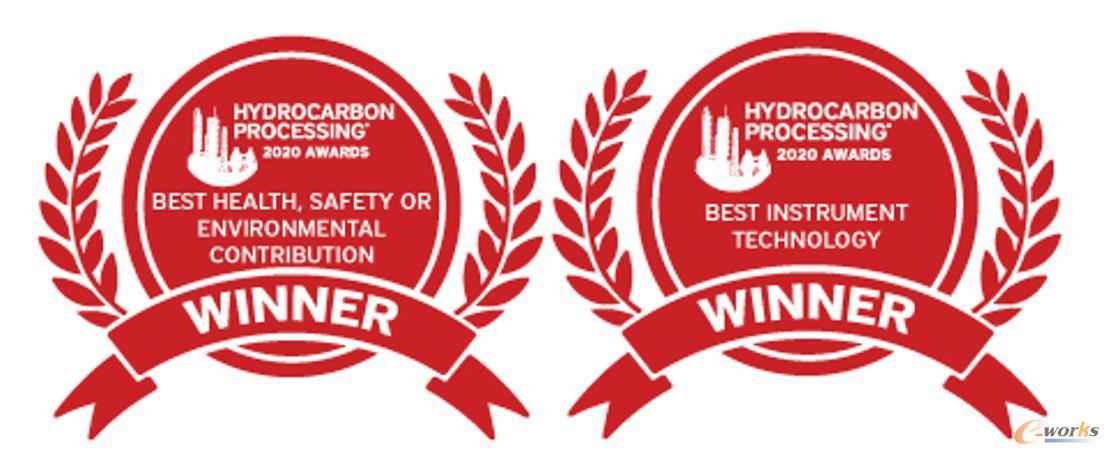 """AVEVA剑维软件荣获2020年烃加工奖的""""最佳健康、安全或环境贡献奖""""和""""最佳仪器技术奖"""""""