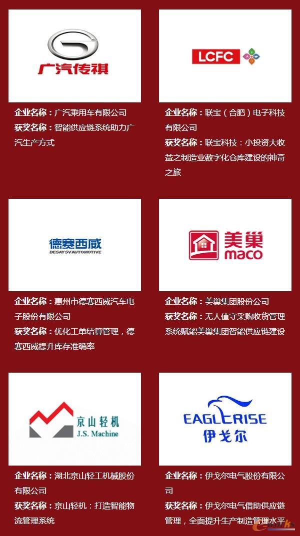 2019年度中国智能供应链杰出应用奖