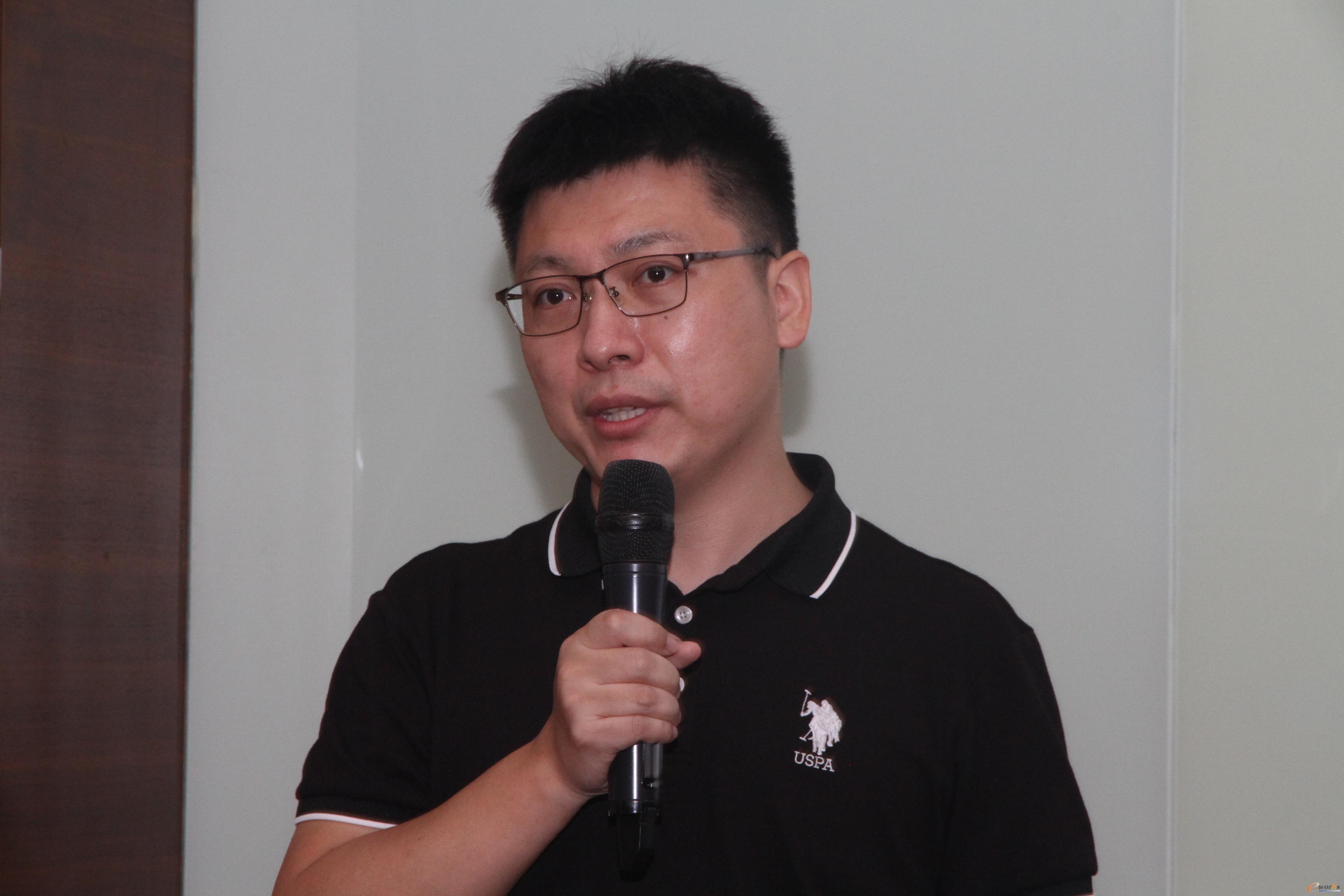 图8 日立电梯MES经理王伟学