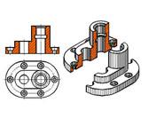 基于SolidWorks典型零件半剖视图的表达方法研究