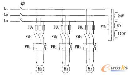 ca6140普通车床主电路控制图