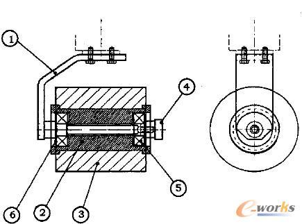 轴套类简单夹具设计图