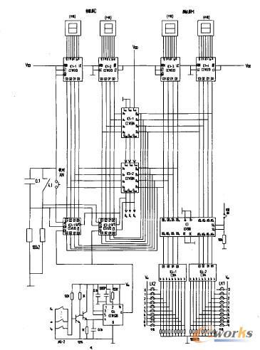 每上升一层,ic 6组成的触发电路便输出一个计数脉冲,计数器加1,直至d=