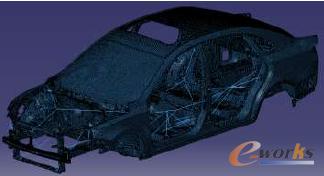 图2 全内饰车身模型