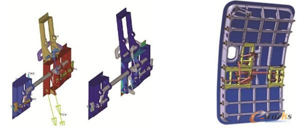 图1 工程师应用仿真技术分析舱门组件受力和应力状态