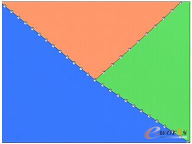 图1 为保证网格连续性的相邻部件节点定义示例