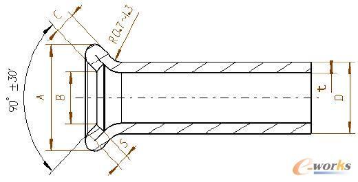 管口(双层扩口)的形状