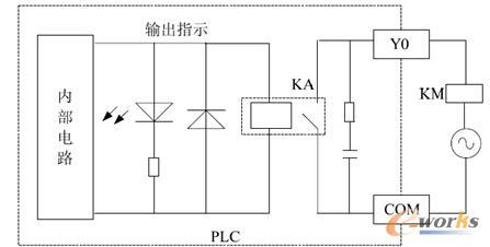 图3 继电器输出接口电路