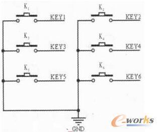 键盘操作板电路图