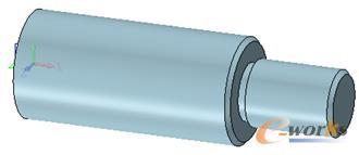 图4 旋转并添加倒角后主轴效果