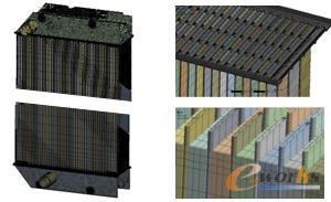 图3 散热器整体模型的网格