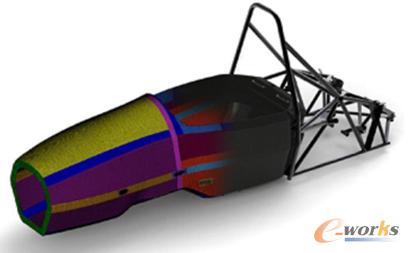 图3 设计目标是保证车架高刚度及低生产和维护成本的前提下获得最轻结构