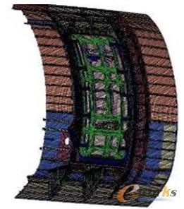 门框与门体的有限元模型