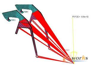 主摇臂拓扑优化模型