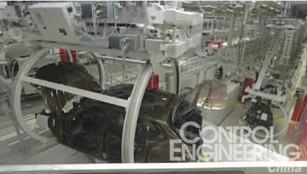 西门子为华晨宝马铁西工厂设计并安装的翻转工位