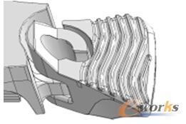 图6 穿越式结构
