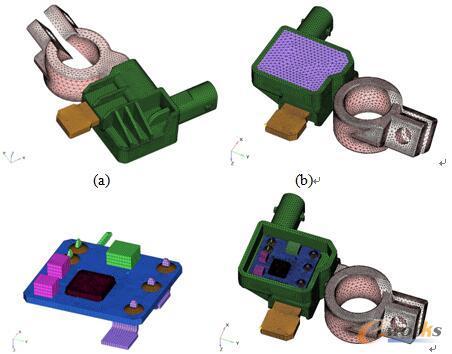 图2 电池模块初始设计的有限元模型