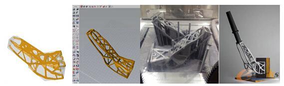 图2 solidThinking Inspire及Evolve辅助设计3D打印卫星支架