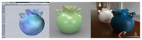 图3 solidThinking Evolve进行青瓷产品的设计、渲染,并对接3D打印