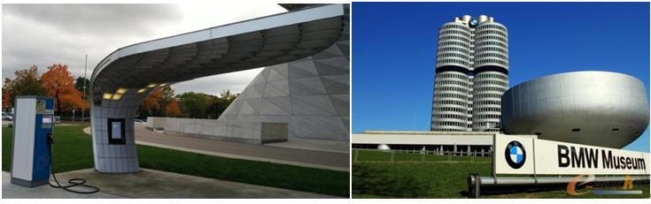 宝马太阳能充电桩慕尼黑宝马博物馆