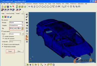 图3 整车模型网格化